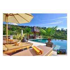 Sunbeds And Pool - Palm Living Bali Long Term Villa Rentals