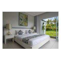 Bedroom View One - Palm Living Bali Long Term Villa Rentals
