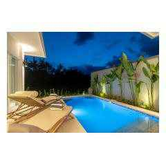 Night View - Palm Living Bali Long Term Villa Rentals