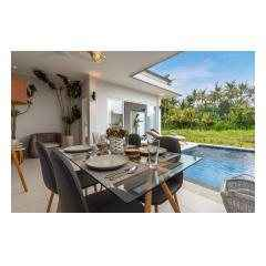 Open Style Dining - Palm Living Bali Long Term Villa Rentals