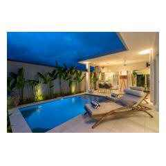 Pool By Night - Palm Living Bali Long Term Villa Rentals