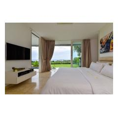 Bedroom Tv - Palm Living Bali Long Term Villa Rentals