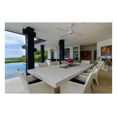 Dining And Terrace - Palm Living Bali Long Term Villa Rentals