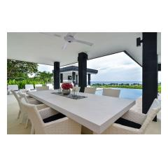 Dining At Pool - Palm Living Bali Long Term Villa Rentals