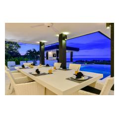 Twilight Dining - Palm Living Bali Long Term Villa Rentals