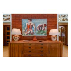 Painting In Living - Palm Living Bali Long Term Villa Rentals