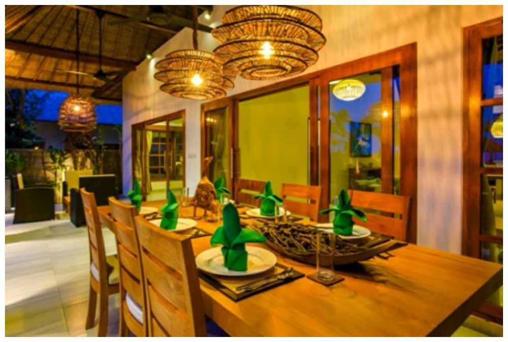 Villa Building Bali Night Dining